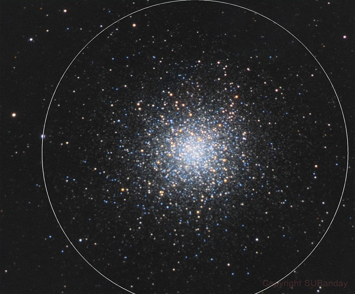 M13 from Bortle 8 Skies