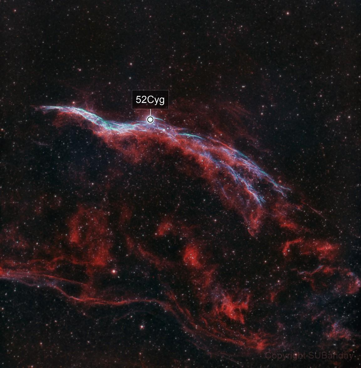 Western Veil Nebula in Bicolor over Bortle 8 skies - Lahore