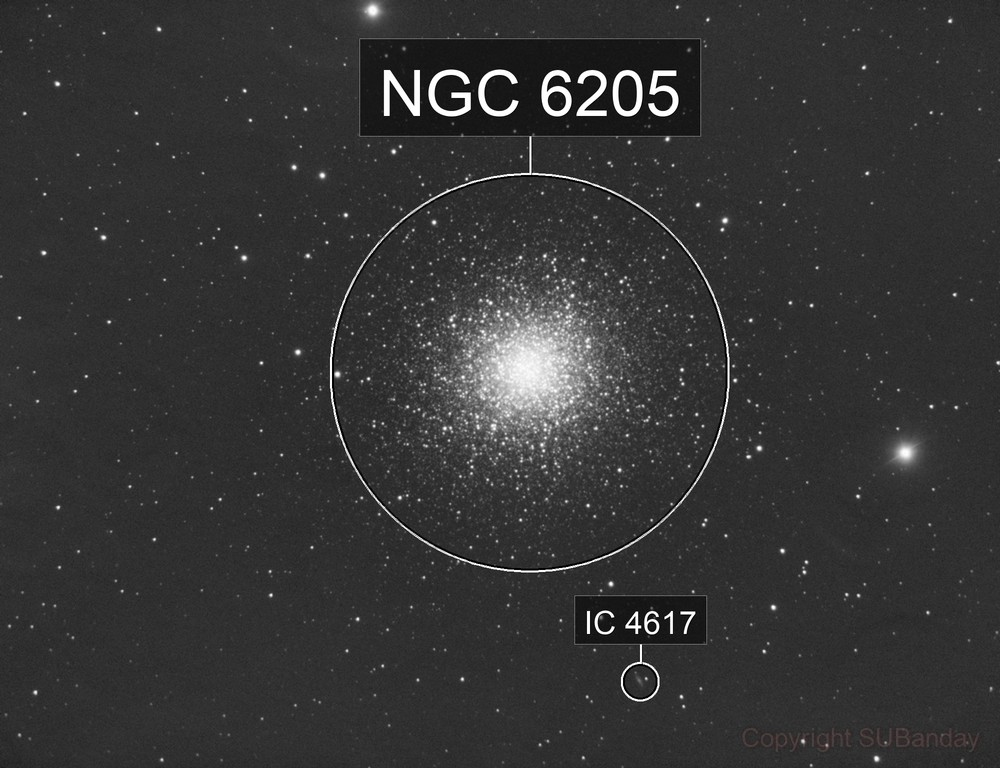 M13 Hercules Cluster in L channel from Bortle 8 skies