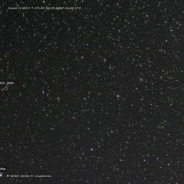 Comet C/2019 Y4 ATLAS with Normal Camera Gear