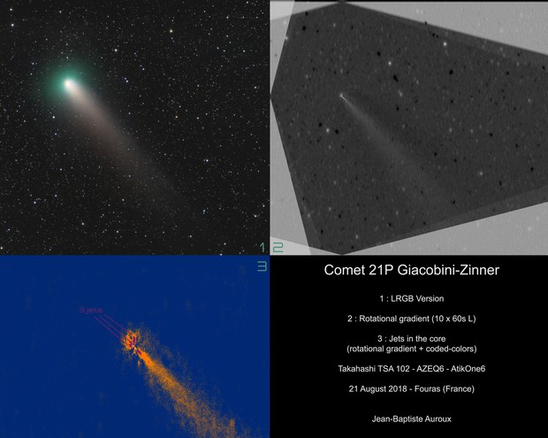 Core and jets of Comet 21P Giacobini-Zinner