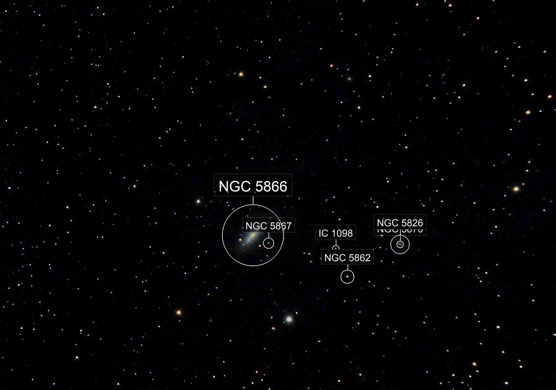 NGC 5866 Galaxie du Fuseau (M102 )