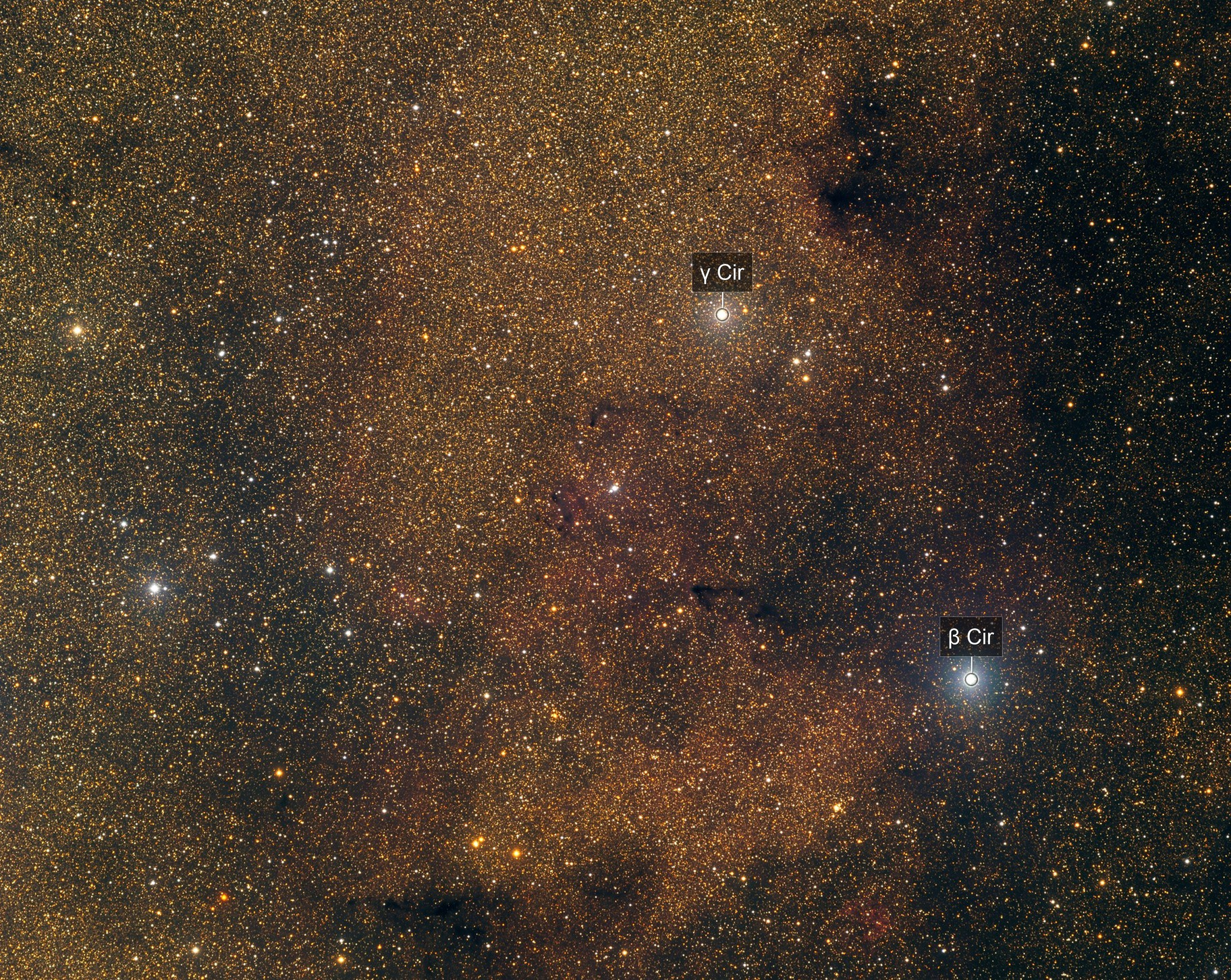Nébuleuse constituée d'hydrogène ionisée (HII), constellation du Compas