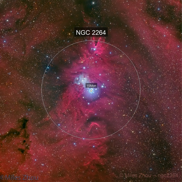 Merry Christmas Nebula from Deep Sky West