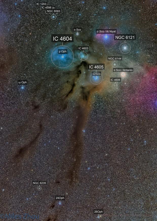 Rho Ophiuchi Nebula Mosaic