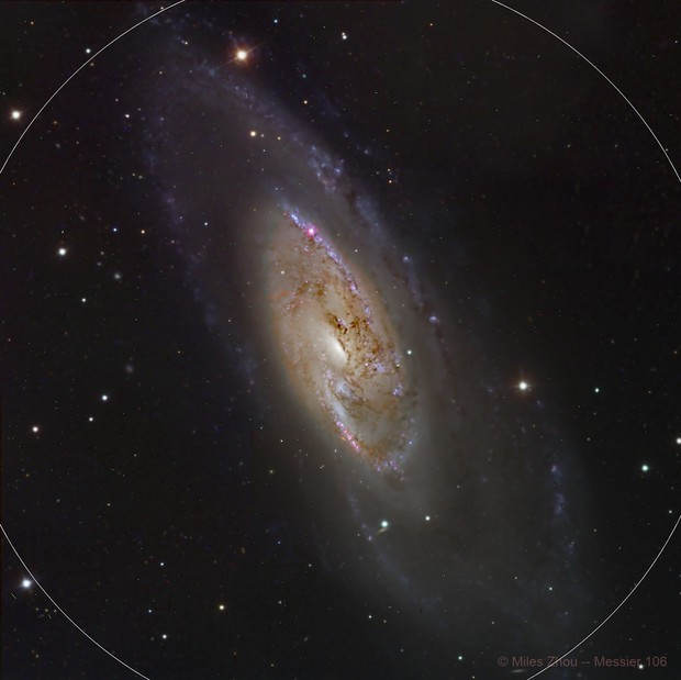 Messier 106 Spiral Galaxy by Liverpool Telescope