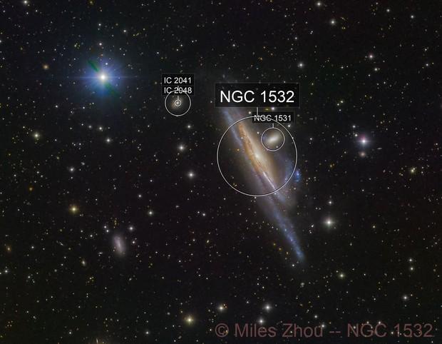 Haley's Coronet (NGC 1532; LRGB)
