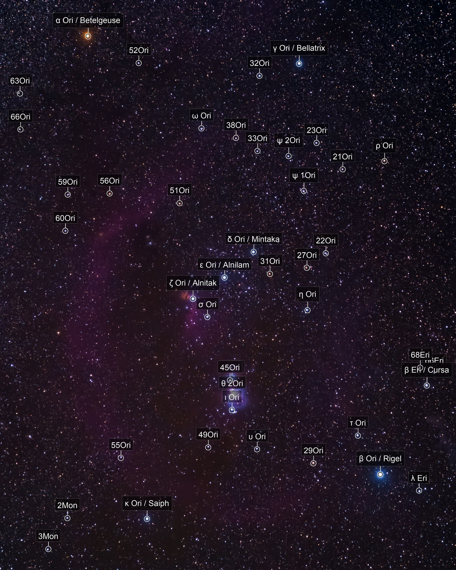 Orion wide angle