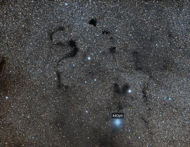 Snake Nebula - Barnard 72 - Snake in the dark
