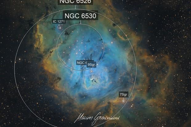 Messier 8 SHO Version Lagoon Nebula