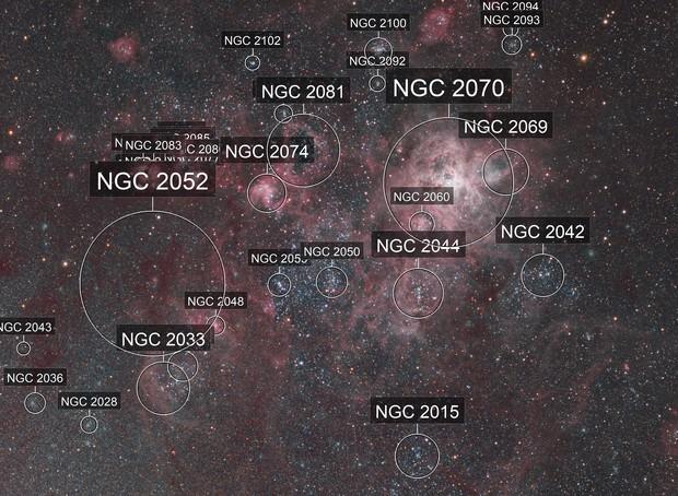 NGC 2070 - tarântula nebulae