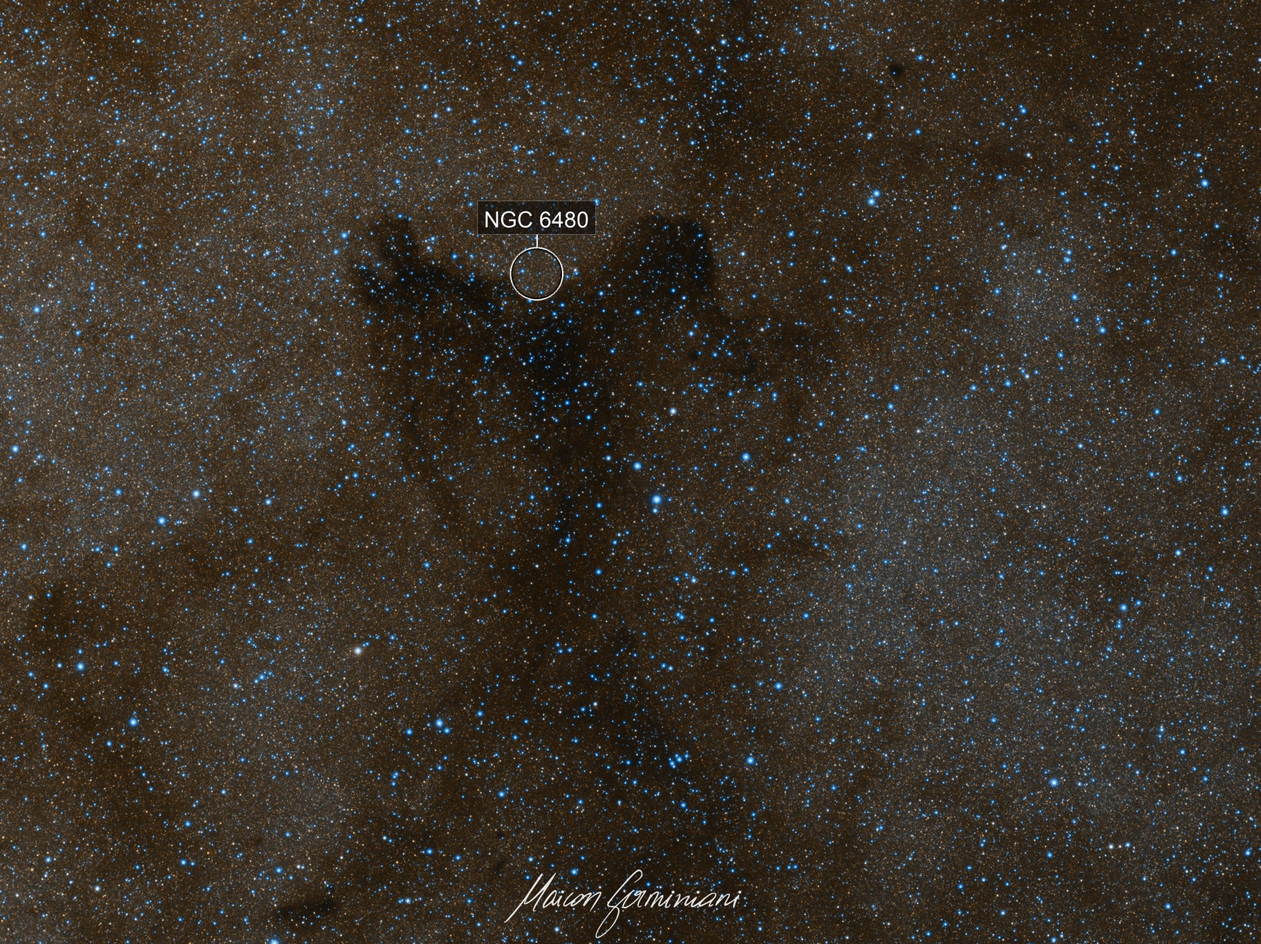"""NGC 6480 and """"Ghost Nebula"""" First on Astrobin (thanks Gary Imm)"""