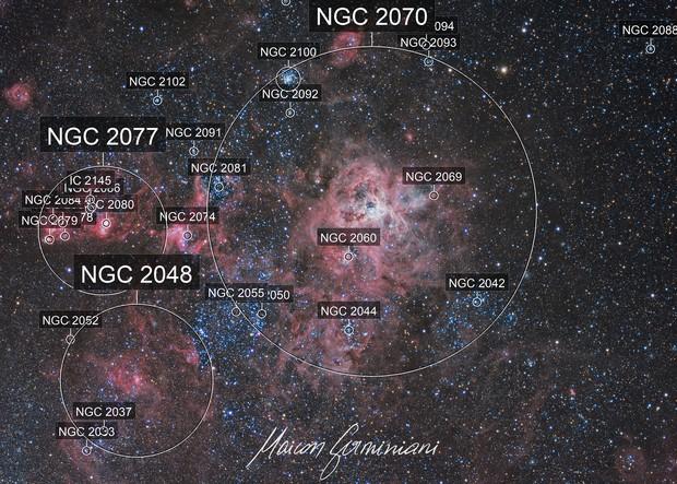 NGC 2070 Tarantulas Nebula 30 Doradus