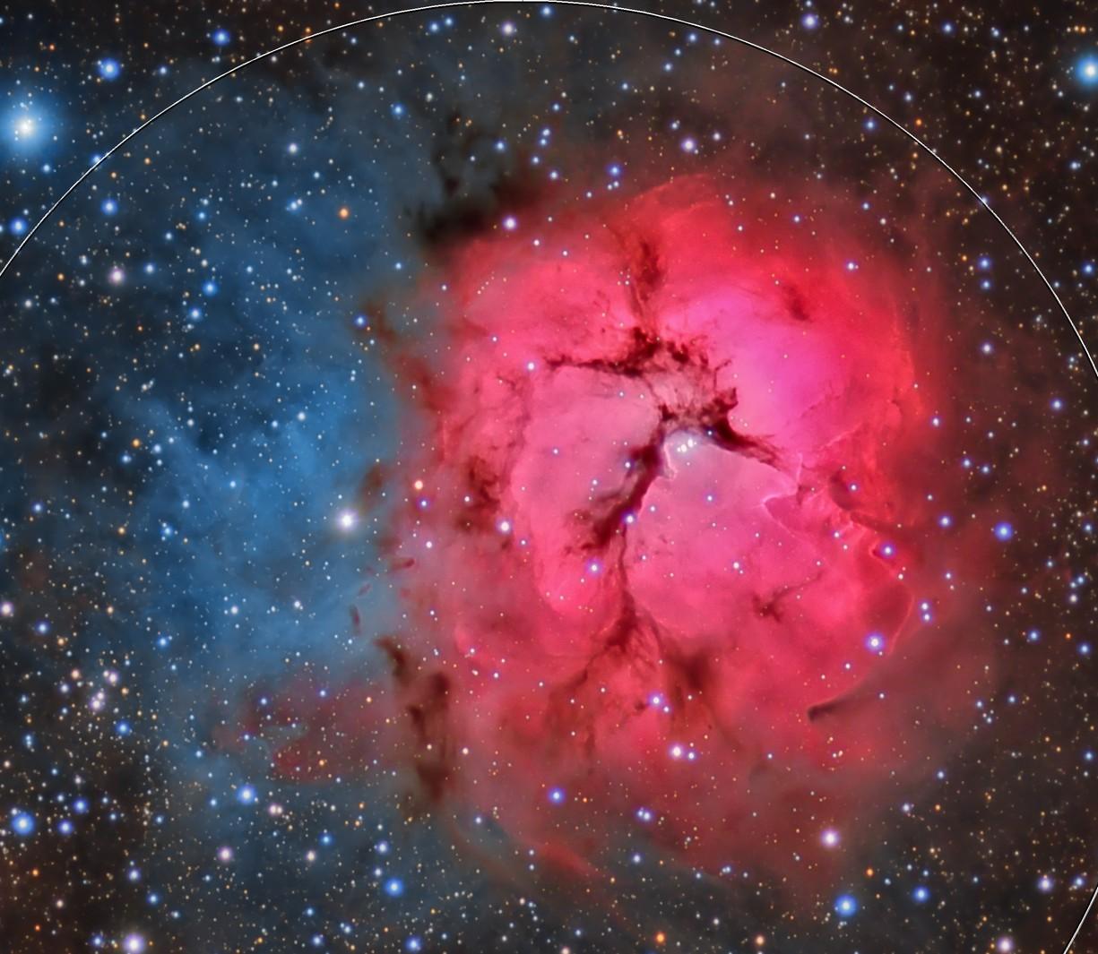 Messier 20 - Central Crop