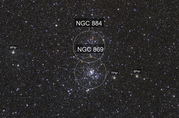 Double cluster of Perseus NGC884 & NGC869