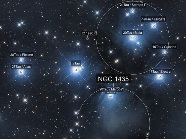 M45 Plejades or Pleiades