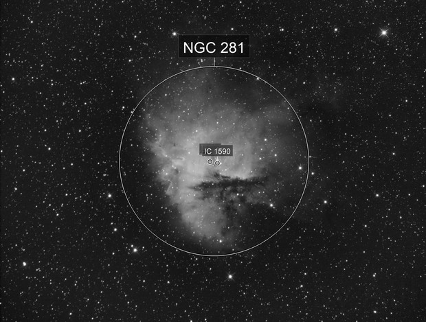 NGC281 Pacman Nebula in Ha