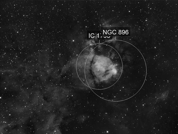 IC 1795 - Fishhead Nebula in Ha - OIII pending