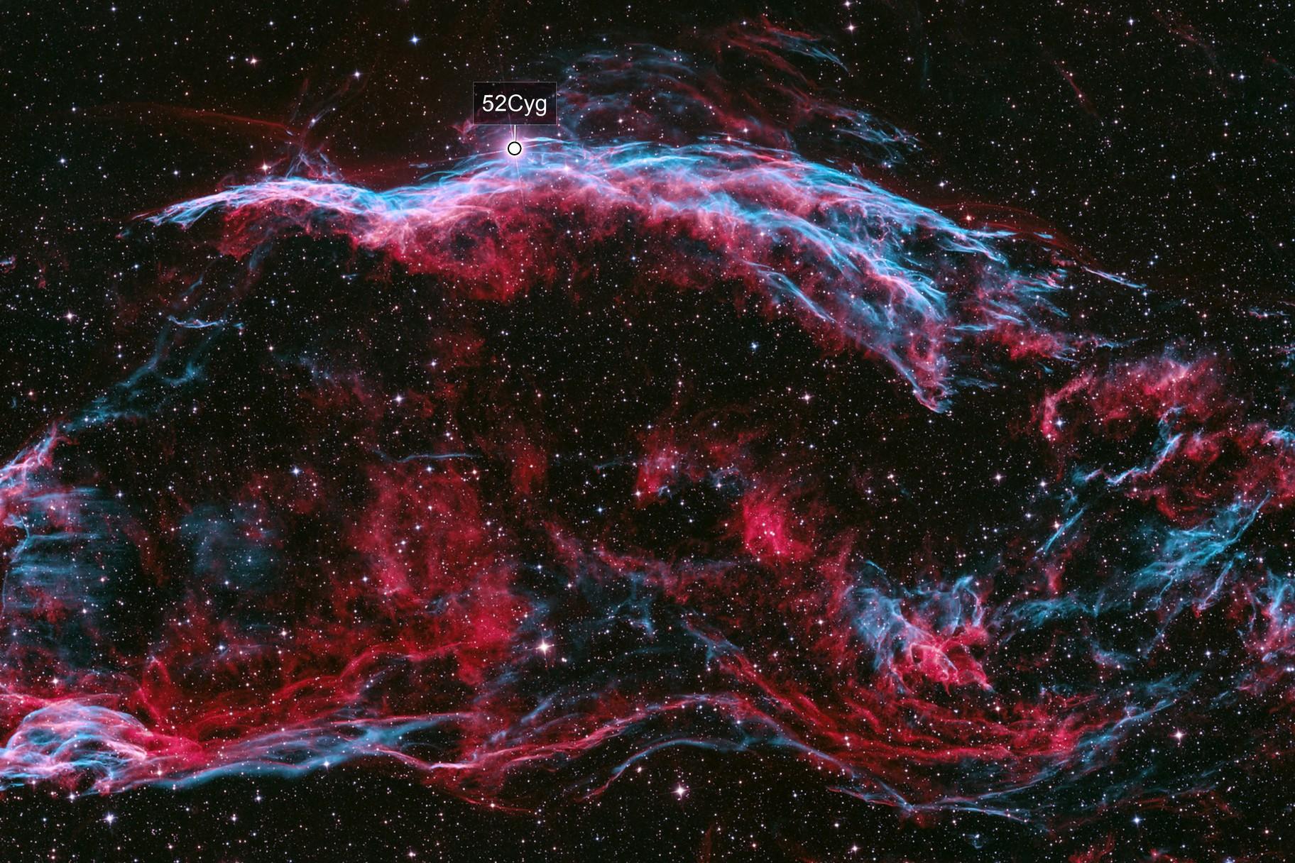 Bicolor Veil Nebula