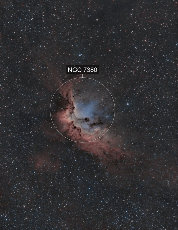 NGC 7380 The Wizard Nebula