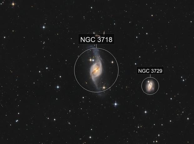 NGC 3718 and NGC 3729