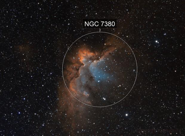 NGC 7380, SHO