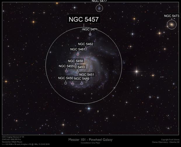 M101 - Pinwheel Galaxy (Redone with PI)