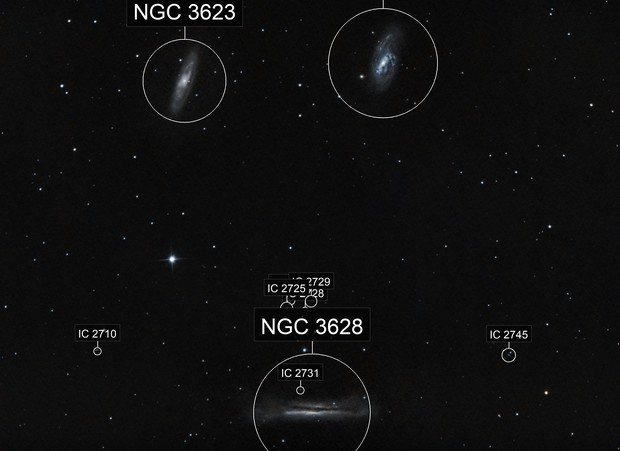 Leo Triplet  M 65,M 66 and NGC 3628