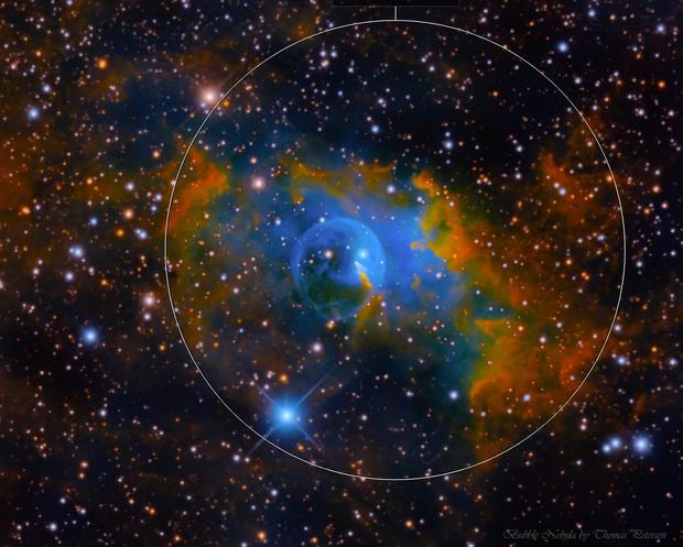 Bubble Nebula in HSORGB
