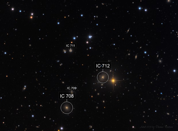Abell 1314 with 4 quasars
