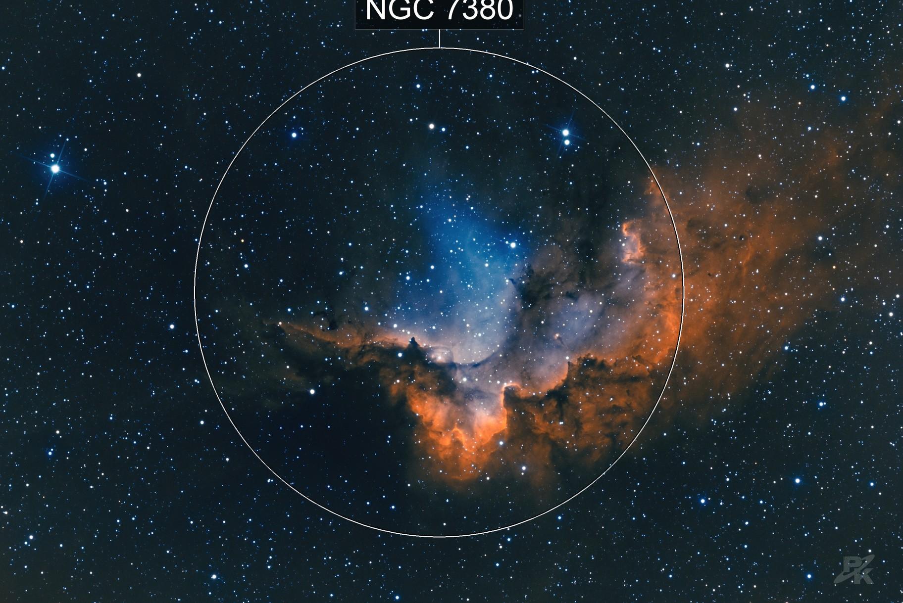 Wizard nebula - NGC 7380