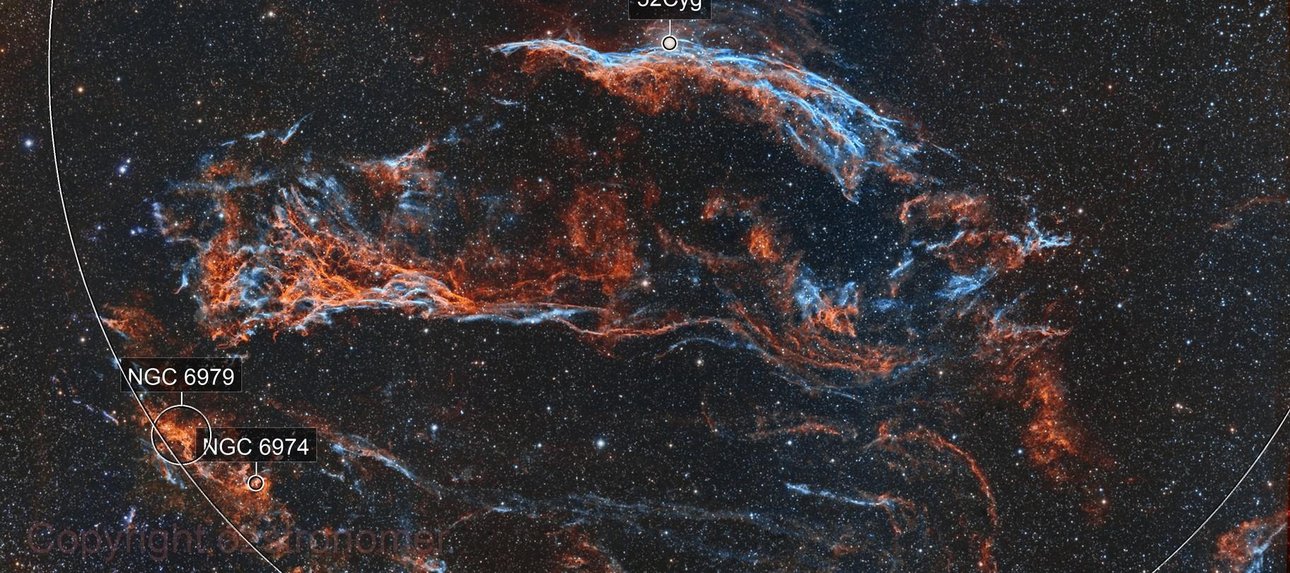 Veil Nebula Narrowband HOO