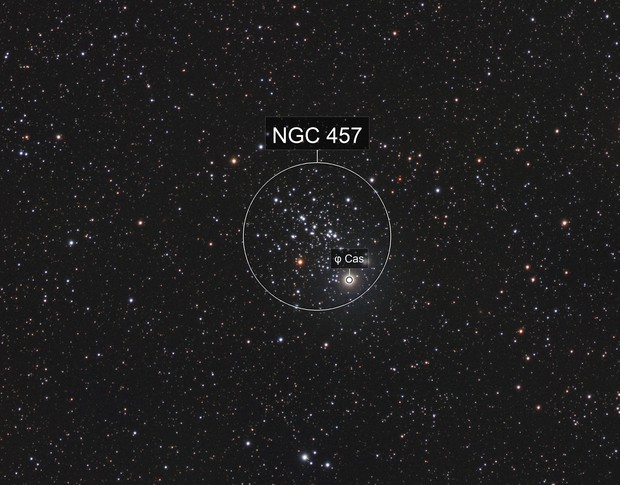 NGC 457 Dragonfly Open Cluster