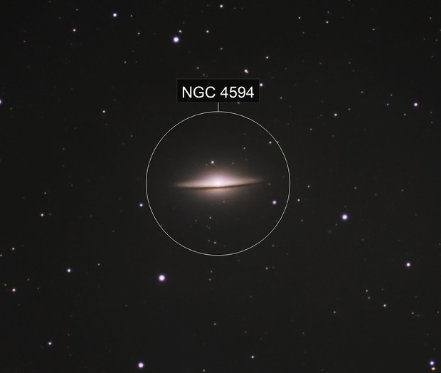 Sombrero Galaxy (M104)  Captured