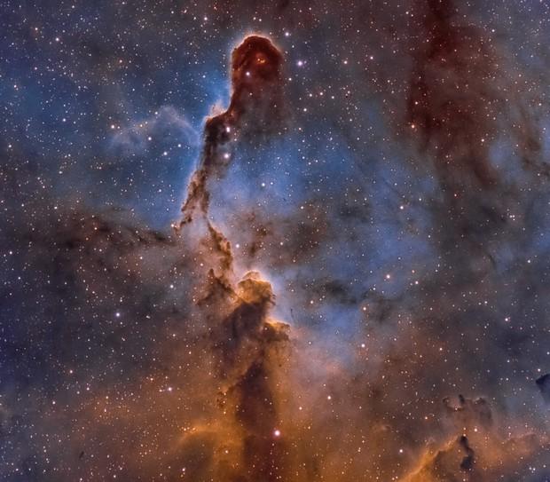 Elephant's Trunk Nebula in the Hubble Palette