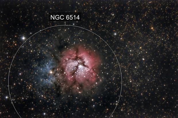 M-20 Trifid Nebula HDR
