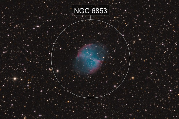 M27 (EQ3-2, not guiding, 126x15 sec)