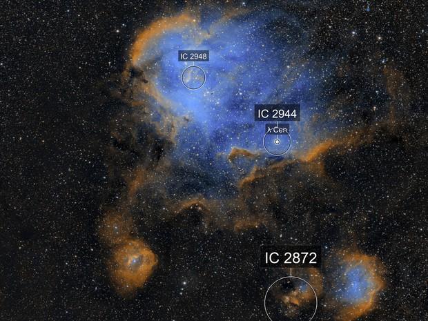The Running Chicken Nebula (IC 2944)