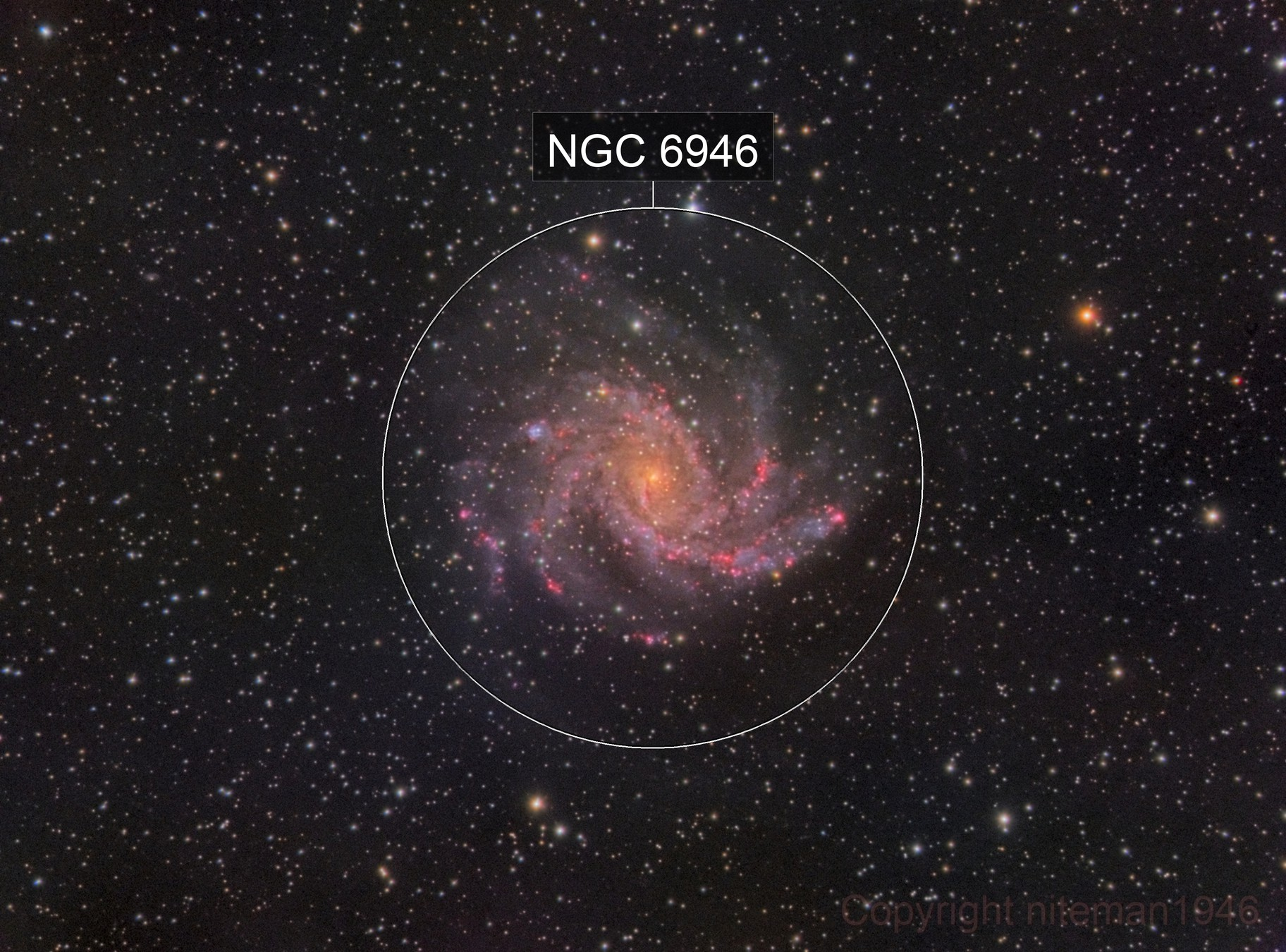 NGC6946 The Fireworks Galaxy