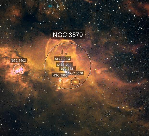NGC 3576 Statue of Liberty