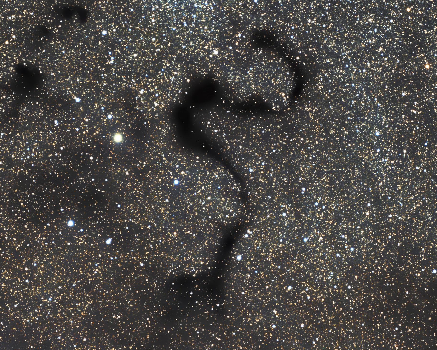 SNAKE NEBULA, THE BLACK SNAKE IN THE SPACE