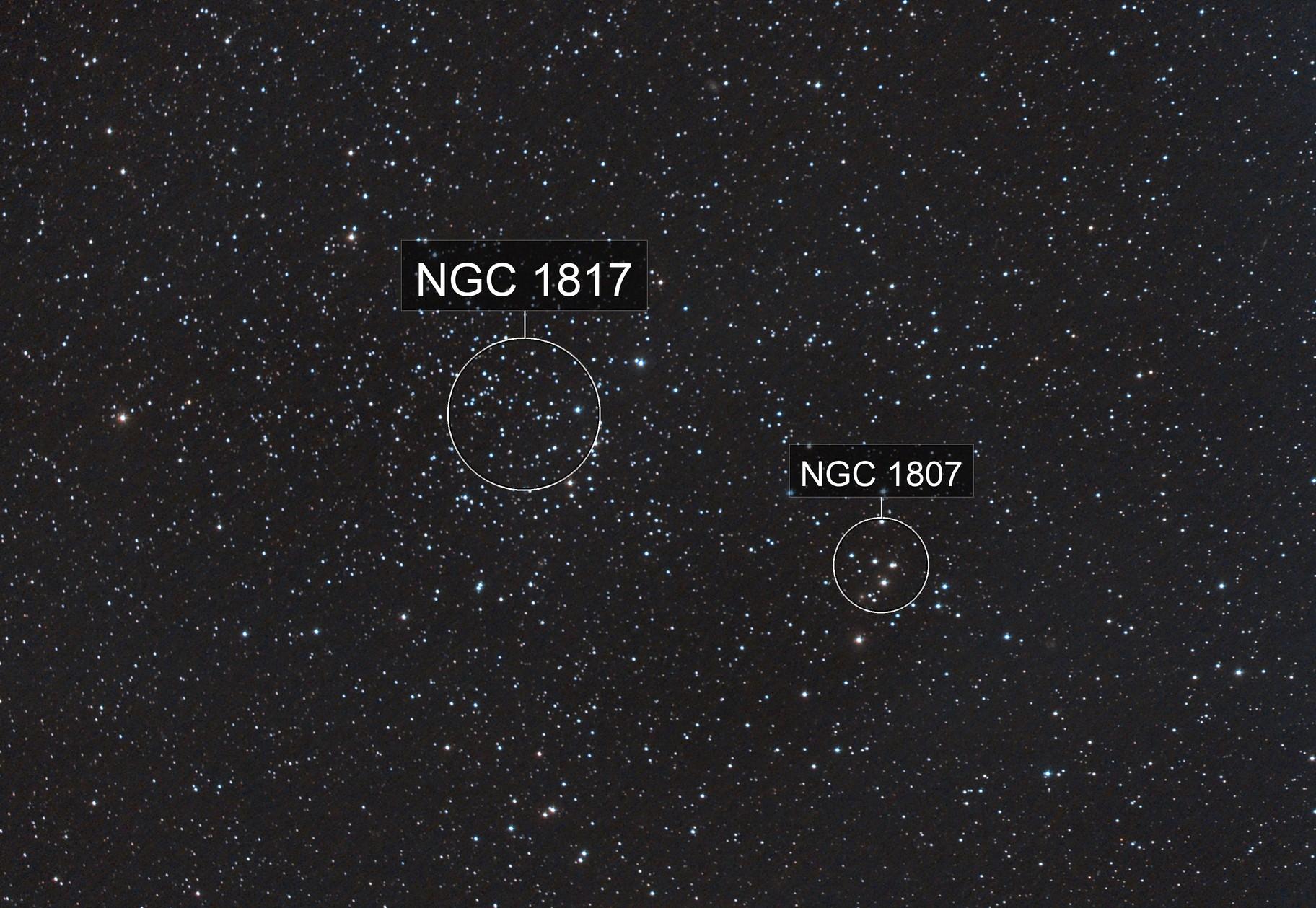 NGC1807 & NGC1817 (07 Nov 2020)