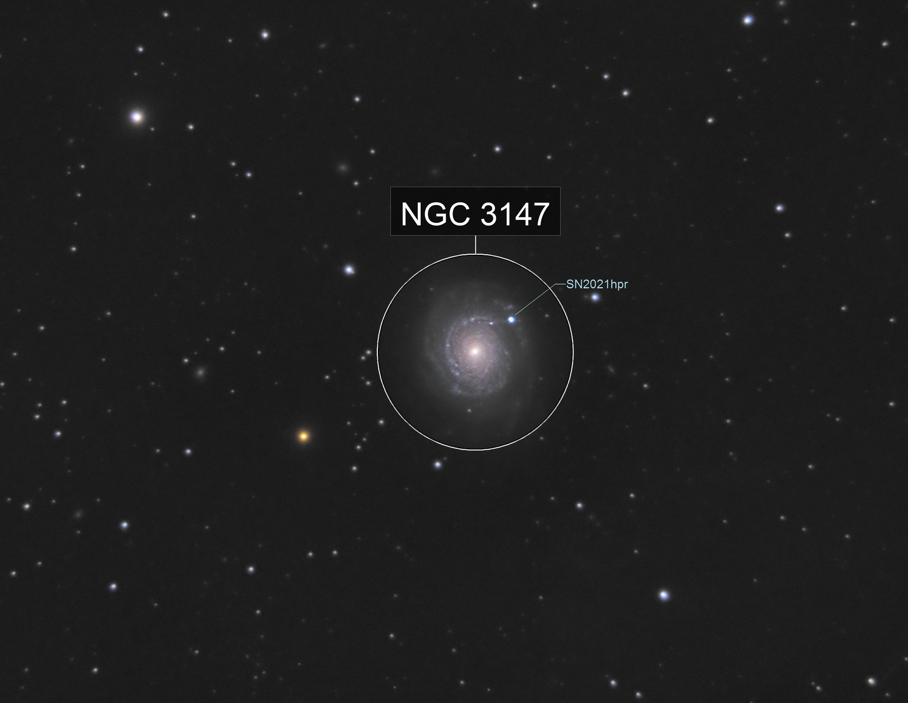 NGC 3147 with SN 2021hpr