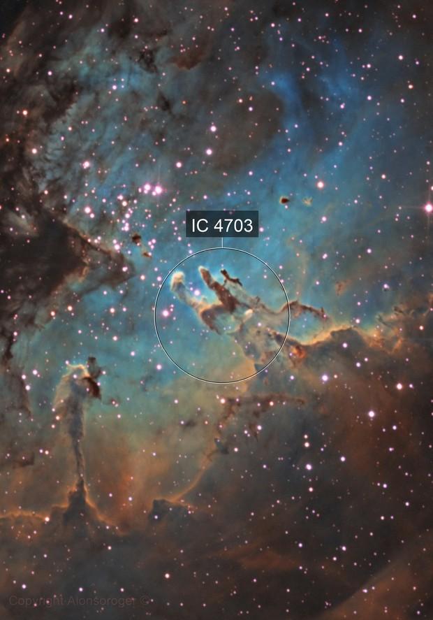 Pillars of Criation - Hubble Palette