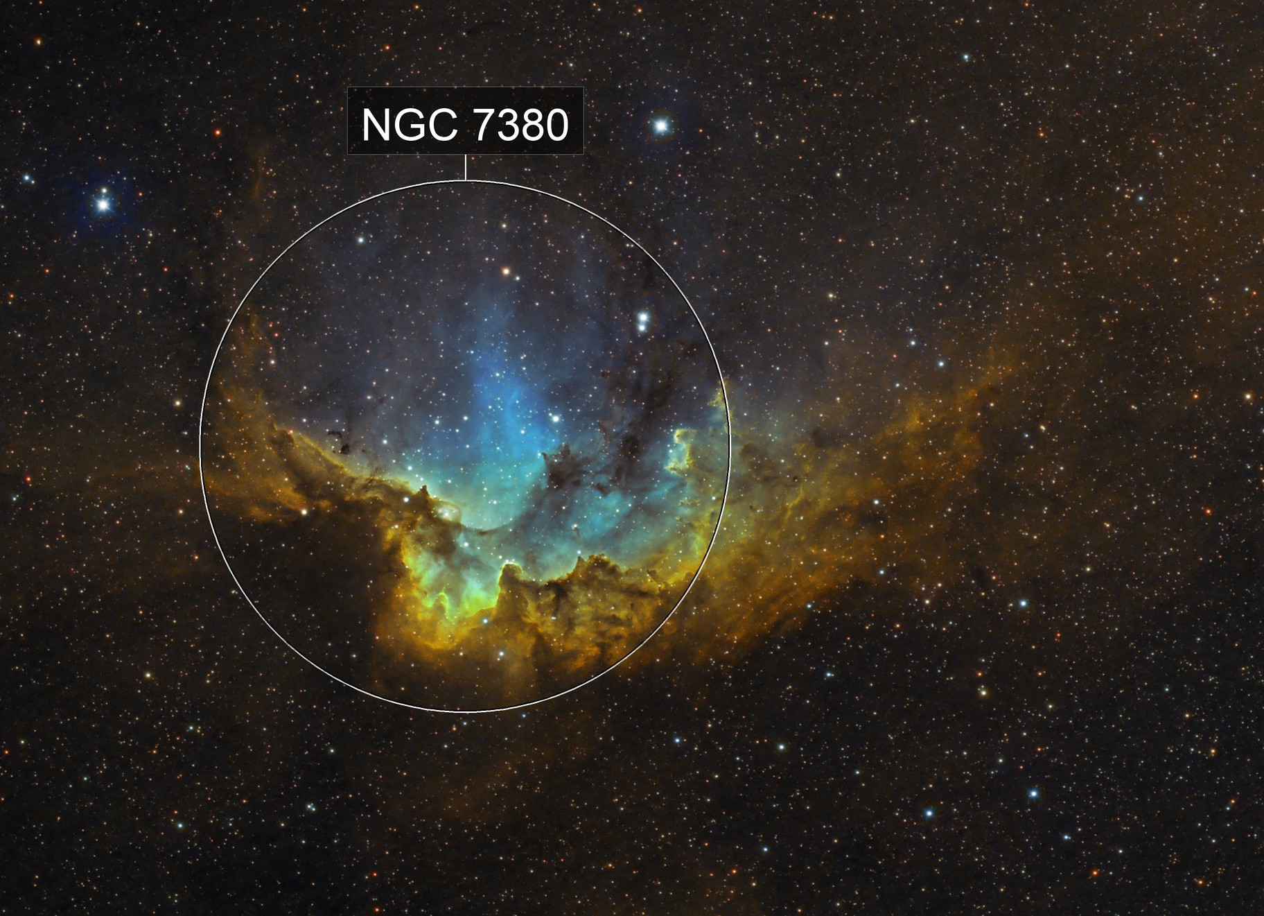 NGC7380 (SHO) - The Batleth  ;)