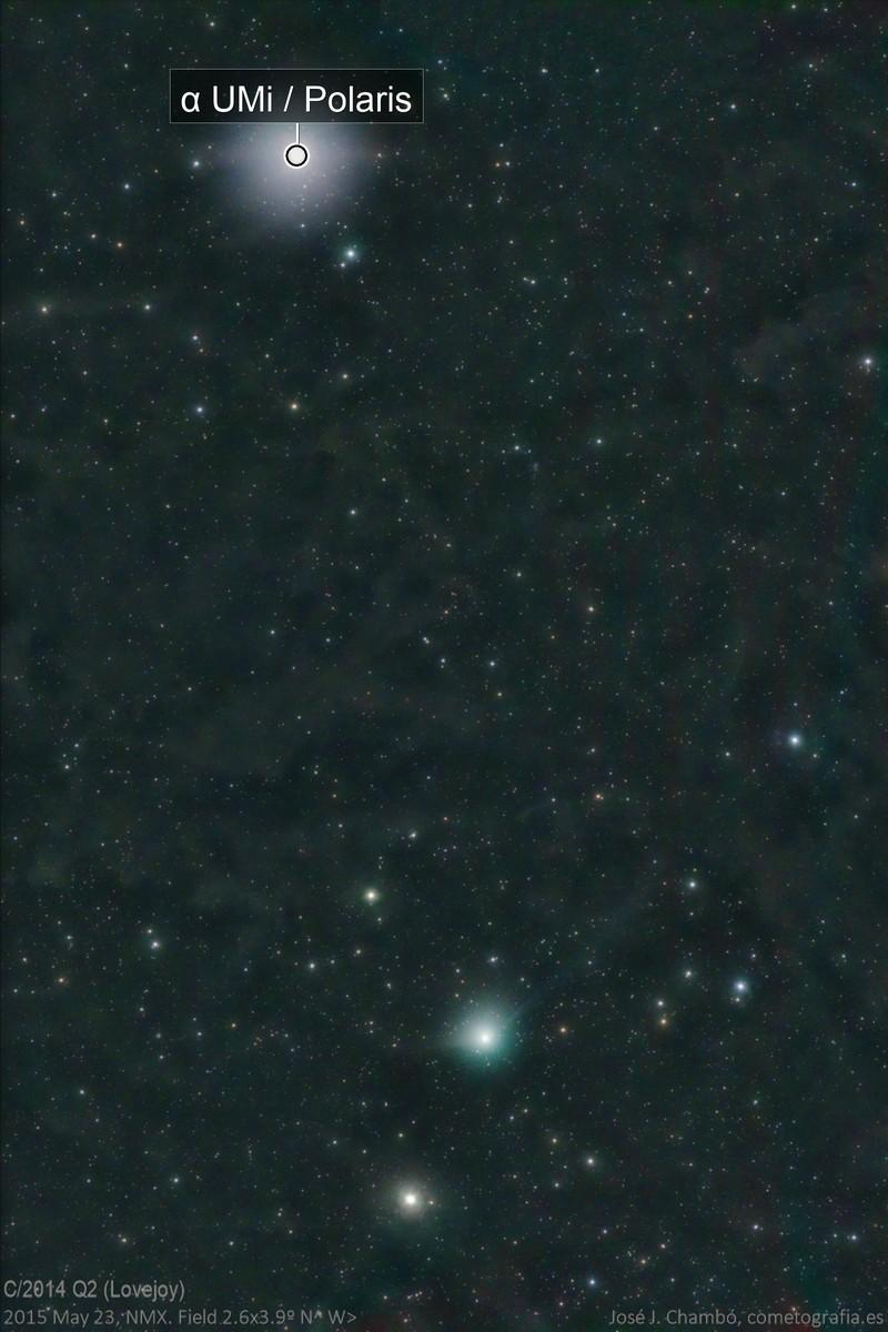 Comet Lovejoy under Polaris (above IFN)