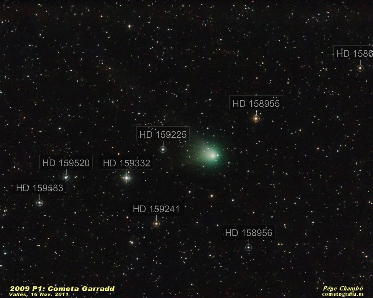 Comet Garradd in mid November
