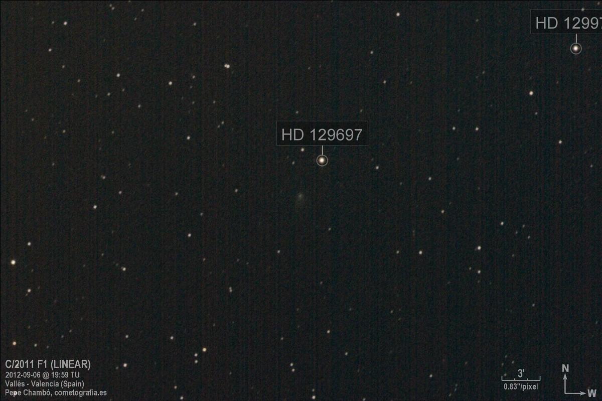 Comet C/2011 F1 LINEAR on September 2012