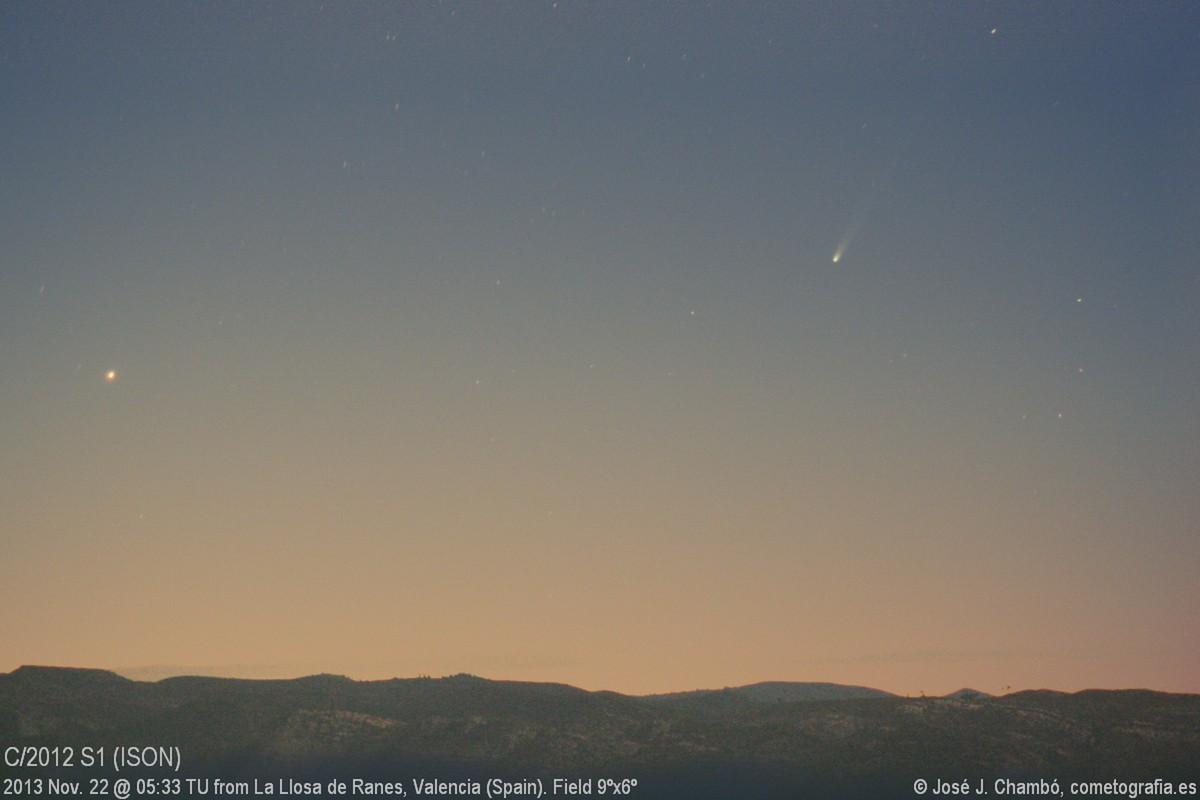 Comet ISON on Serra Grossa