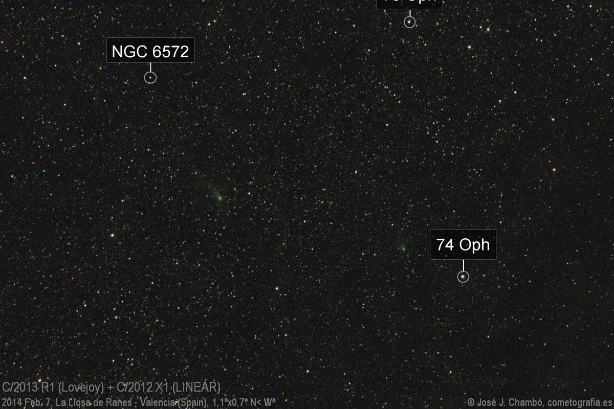 Comet Lovejoy and LINEAR in conjunction